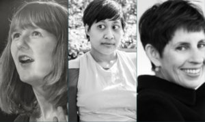 Three authors photographs